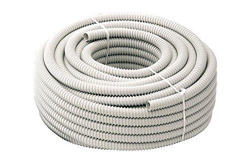 Gewiss - Tubo de revestimiento en espiral flexible aislante ondulado de PVC...