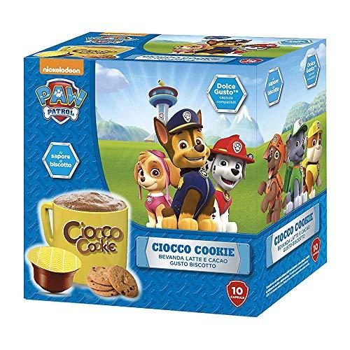 MUST 60 Lösliche Schokoladenkapseln, 6 Packungen mit 10 Cockie - Schoko Kapseln, Heißes Milch und Kakaogetränk Selbstgeschützte Schoten Kompatibel mit der Nescafè Dolce Gusto Maschine, Made in Italy