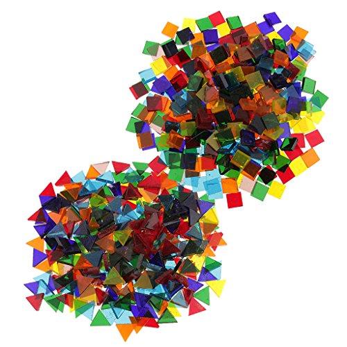 320g Glasstücke Mosaiksteine Bastelmix Dekoration Steine Mosaik Fliesen für Mosaikherstellung