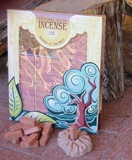 Juniper Wood Incense - 100 Bricks Plus Burner - Incienso De Santa Fe