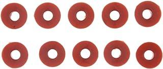 perfeclan 10 Stücke Luft Ventilschaft Staubkappe Reifenventil Ventile für Gummireifen Auto LKW Rad Reifen Ventil   Orange