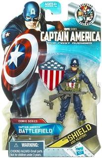 Captain America Movie 4 Inch Series 1 Action Figure Battlefield Captain Ameri...