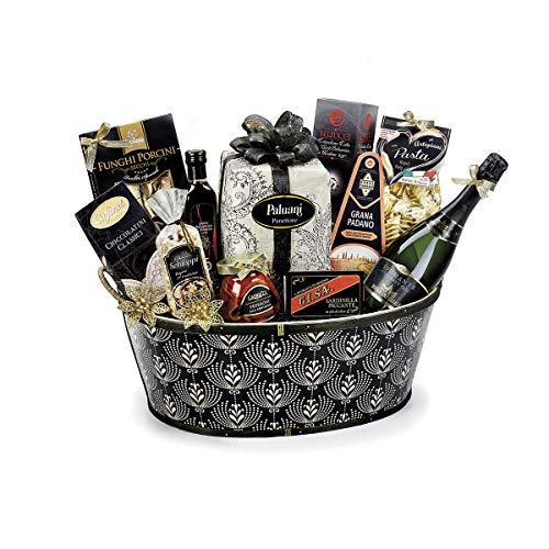 Confezione cesto Natalizio re nero con 12 specialità italiane, idea regalo gourmet Parte della selezione Gourmet Made in Italy