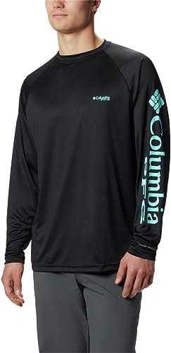 Columbia Sportswear Hommes's Terminal Tackle manche longue Shirt, noir Gulf Stream Logo, X-grand