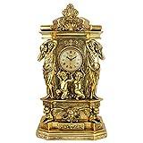 Design Toscano Chateau Chambord Mantel Clock, 20 Inch, Polyresin, Gold