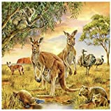 Diamante pintura punto de cruz set para niños adultos principiante con herramientas Animal World 40X50cm 1 paquete por