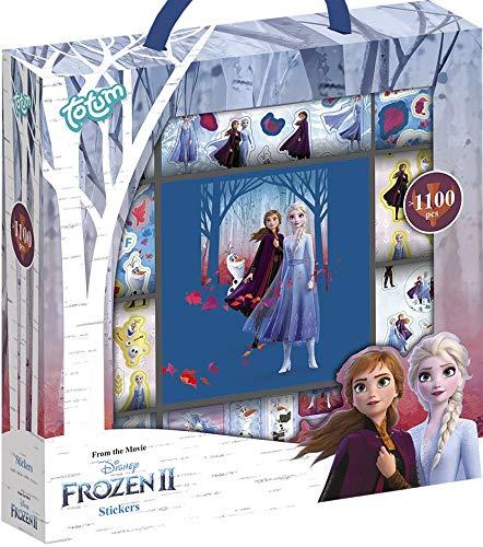 Große Frozen II Stickerbox mit über 1100 Stickern auf 12 Rollen, mit Motiven von Anna & Elsa — Ideal für Scrapbooking und Bastelarbeiten