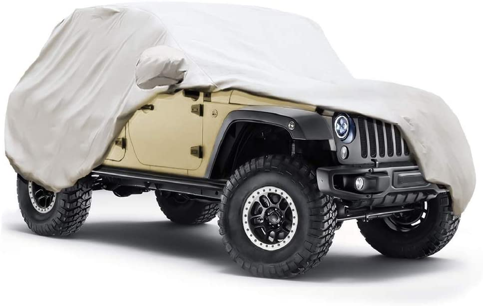 Auttely 5 In stock Layers Jeep Long Beach Mall Covers Re Windproof All Weather Protection