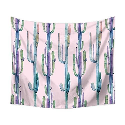 N / A Kaktus Tapisserie Aquarell Wandbehang grüne Pflanze Wandteppich böhmische Landschaft Tapete Tapete Kunst Dekoration Tapisserie Tapisserie A3 150x200cm