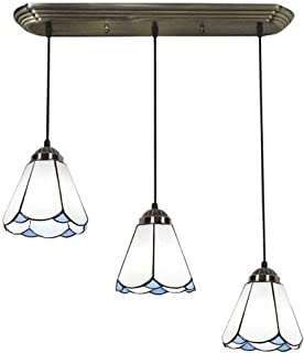 Home Equipment Pendant Light Chandeliers Ceiling Lights Style Lamps Mediterranean Stained Glass Chandelier Kitchen Pendant...