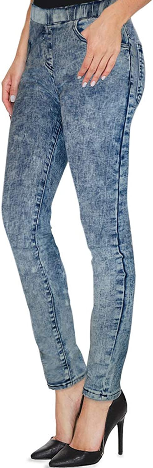 Hybrid H&C Women Super Stretch Skinny Pullon Pant with Petite Regular and Long Inseam