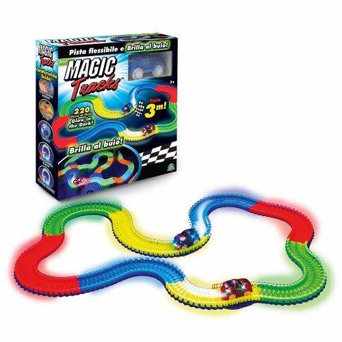 Giochi Preziosi Magic Traks Pista da Corsa, Glow in The Dark, 1 Auto Inclusa, MAK05000