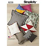 Simplicity 8225 Easy to Sew DIY Pillow Sewing Pattern, 8 Styles
