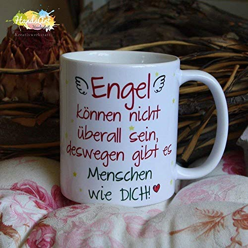 Kaffeebecher ~ Tasse - Engel können nicht überall sein ~ Freundschaft - Freundin ~ Weihnachten Geschenk