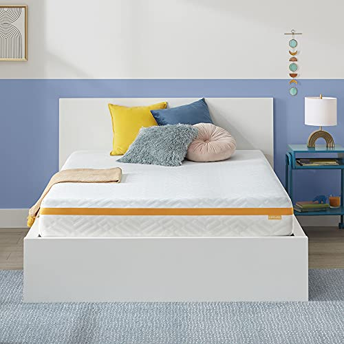 Simmons - Gel Memory Foam Mattress - 10 Inch, Full Size, Medium Feel, Motion Isolating, Moisture Wicking Cover, CertiPur-US Certified, 100-Night Trial