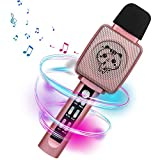 HOKLAN Karaoke Microphone for Kids Age 4-12,Voice Changer, Best Birthday Gifts for 5 6 7 8 9 10 11 Years Old Teens Girl Boys Toddlers, Toys For 3-16 Years Old Girls Gifts