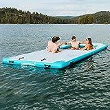 Driftsun Inflatable Floating Dock Platform - Mesa Dock Inflatable Floating Mat and Swim Deck Platform, Dropstitch PVC Construction (Multiple Sizes)