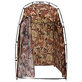 vidaXL Tente de Vestiaire WC Cabine de Douche Tente de Camping Toilette Dressing Parc Plage Lieux Publics Résistant à l'eau Camouflage