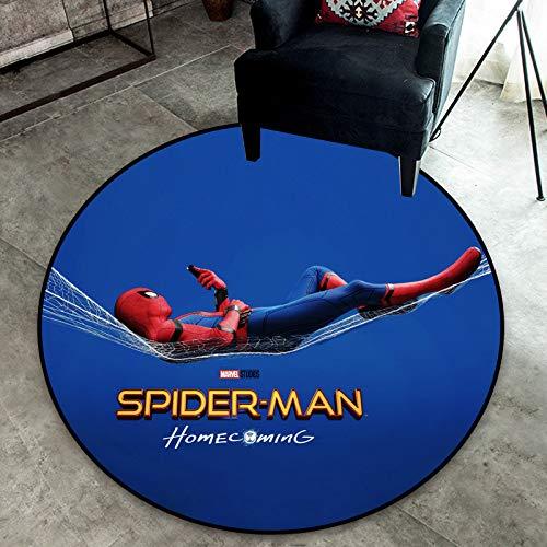 Maize store La Mode Moderne Tapis Rond Anime Série Spiderman Impression Tapis Enfants Chambre Chambre Étude Salon Dessin Animé Tapis Anti-Glisse 90 Cm
