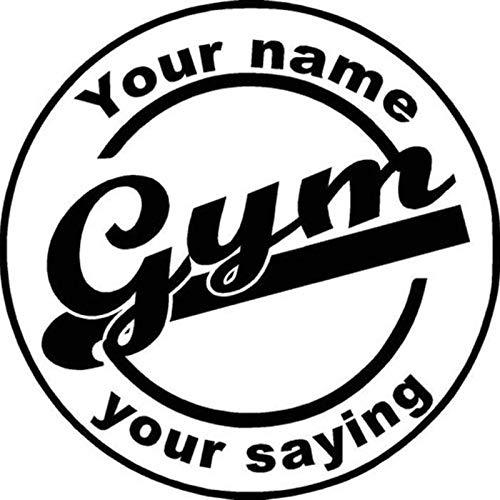 zxddzl Auto Gym Aufkleber Fitness Name Aufkleber Bodybuilding Poster Vinyl Wandtattoos Pegatina Quadro Parede Decor Wandbild Gym Aufkleber-100x100cm