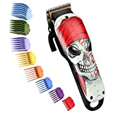 Cosyonall Hair Clippers for Men Professional Rechargeable Cordless Hair Trimmer Cutting Kit with Carbon Steel Blade 8 Colorful Clipper Guards for Barbers and Stylists