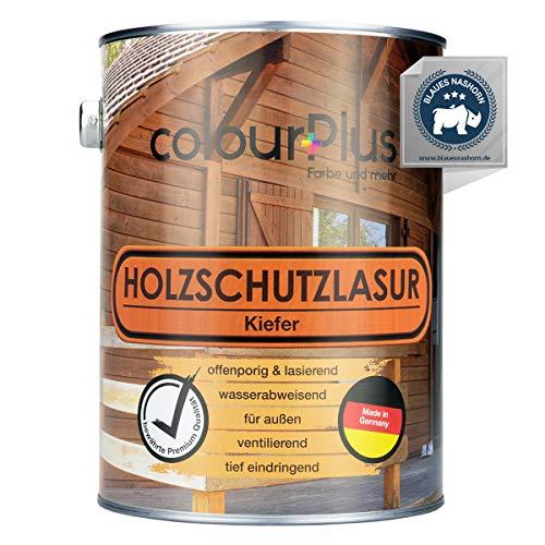 colourPlus® Barniz de alta protección (2,5L, Pino) Barniz satinado para madera, exteriores - Base para madera - Pintura de madera para exterior - Fabricado en Alemania
