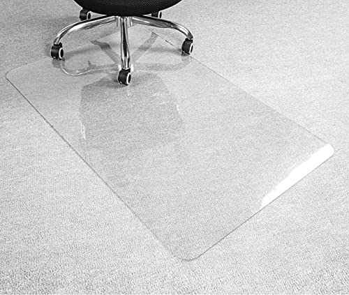 """HOMEK Crystal Clear Chair Mat for Hardwood Floor, 1/8"""" Thick 48""""x 30"""" Chair Mat for Hard Floors, Heavy Duty Office Mat for Rolling Chairs"""