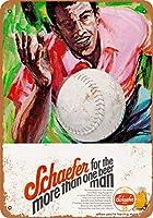 ホーム装飾記号贈り物1971年のSchaeferビールとソフトボールレトロビンテージブリキサイン
