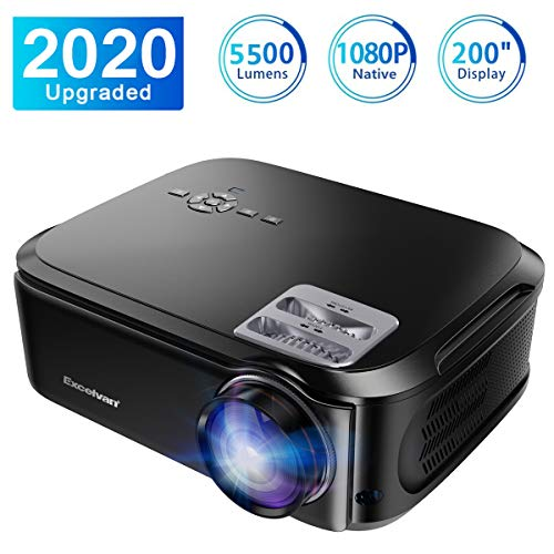 1080P Projector,Excelvan HD Video Projector 24W LED 1500:1 HD Display for Family Compatible with TV Box PC Mobile Phone
