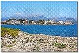 BZAHW Rompecabezas Adultos 1000 Rompecabezas para niños Playa Alcuda Mallorca, España Regalo para niño Rompecabezas educativos Juegos