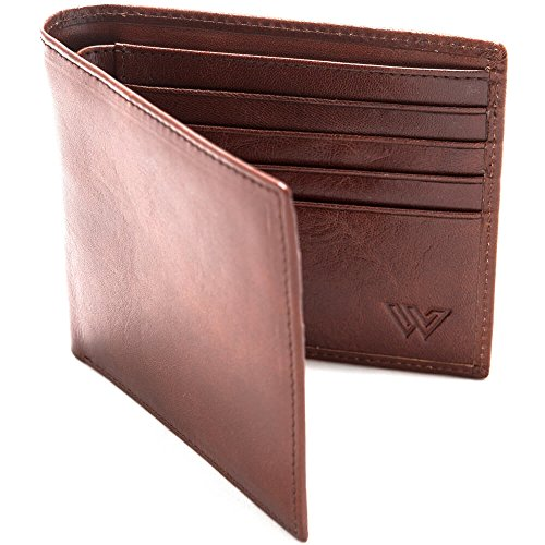 Slim RFID Wallet for Men by Walletech | Made from Genuine Italian...