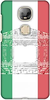 AMZER Slim Designer Snap On Hard Shell Case with Screen Cleaning Kit for LeEco Le Pro 3 AI Edition - The Pantheon of Rome- Italy Flag