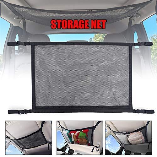 Ablita Auto Lkw Decke Aufbewahrung Netz, Netz Tasche Einfach Atmungsaktiv Reißverschluss Tasche Taschen Universell Auto Dach Innen Cargo Tasche mit Reißverschluss