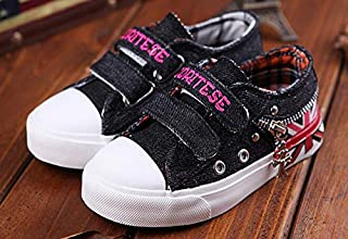 SandQ baby Black Canvas Shoe with Flag