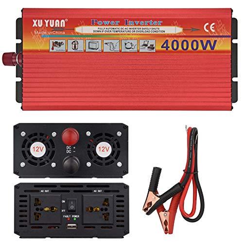 CCTV 4000w inversor de Corriente para Coche, convertidor 12v 110v 220v, y Pantalla LED, Puerto USB Dual y Adaptador para automóvil para computadoras portátiles y teléfonos 12v to 220v