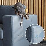 PROTECTO Protector Sofá Anti-Gatos y Anti-Arañazos en Muebles Diseño Leather Safe™ y Adhesivo Grip-Tight - Efectivo Disuasivo y Repelente Anti-Arañazos para Sofás Esquinas