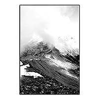 JWJG 雪山の風景のポスターとプリント北欧のキャンバス絵画インテリア壁掛け黒と白の壁アートパネル写真リビングルームの寝室モダンな家の装飾画フレームレス GNJ-076