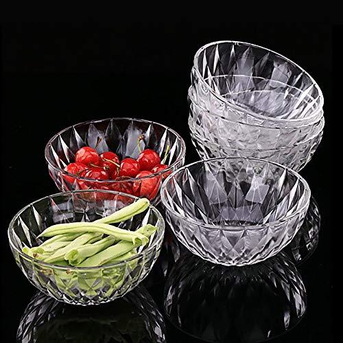 Glass Bowl Set, Glass Salad Bowl Set,Stackable Crystal Bowl Set,Suitable for Noodles, Soups, Cereals, Fruits,6 Piece Set, 5 Inch