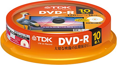 TDK 録画用DVD-R デジタル放送録画対応(CPRM) 1-16倍速対応 パールカラーディスク 10枚スピンドル B005O64ED4 1枚目