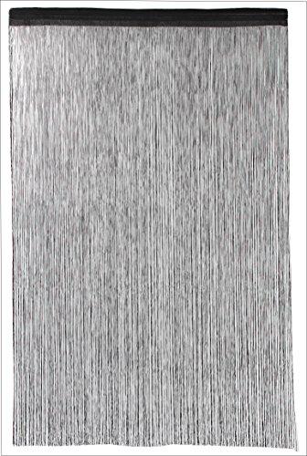花々(hanahana) ひものれん 花粉&ほこりキャッチ機能付き 100×170cm ブラック 8235
