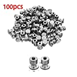 Fayella 100 pcs Winter tires for cars, bolts, snow nails, tires, snow chains, shoe studs, ATV, motorcycle...