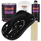 Restoration Shop - Jet Black (Gloss) Acrylic Urethane Auto Paint - Complete Gallon Paint Kit - Professional Single Stage High Gloss Automotive, Car, Truck Coating, 4:1 Mix Ratio, 2.8 VOC