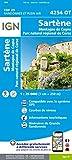 Sartène, montagne de Cagna, Parc naturel régional de Corse : 1/25 000 (Top 25 & série bleue - Carte de randonnée)