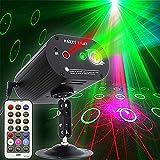 Luces de fiesta DJ discotecas, sonido activado y mando a distancia con varios motivos efectos de proyector, luces estroboscópicas de escena para fiesta de cumpleaños, boda, karaoke, KTV Bar