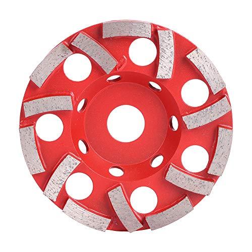 Betonschleifer, 125 mm Diamantschleifscheibe 14 Zahnpolierwerkzeug für Zementbetonstein