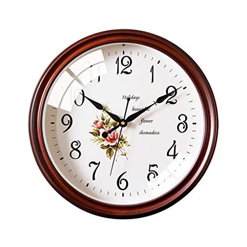 MJJ @Reloj de Pared Ronda Creativo Reloj de Pared, Silent Cuarzo Casa Salón Dormitorio Cocina Decorativo Reloj de Pared for no Tick, con Pilas (Color : A)