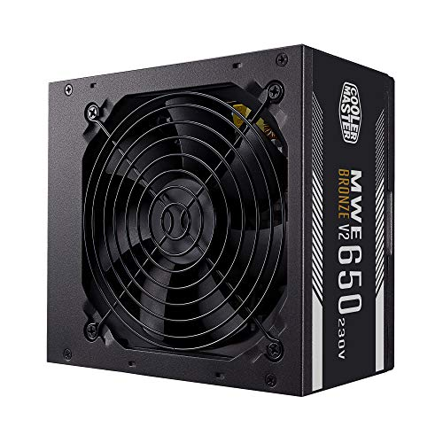 Cooler Master MWE 650 Bronze-v2 230V fuente de alimentación para PC 650W 80+ Bronze, ventilador silencioso 120 HDB, circuito de CC a CC + LLC