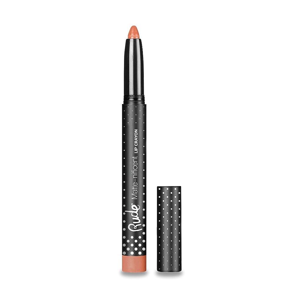 不均一家族金額(6 Pack) RUDE Matte-nificent Lip Crayon - Naked (並行輸入品)