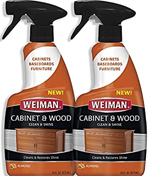 Weiman Furniture Polish & Wood Cleaner Spray - 16 Ounce  2 Pack  Condition Your Cabinet Doors Table Chairs and More