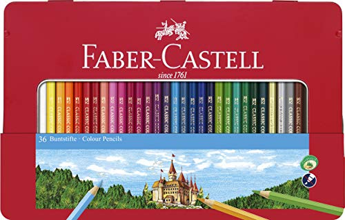 Faber-Castell 115888 - Buntstift hexagonal, 48er Metalletui